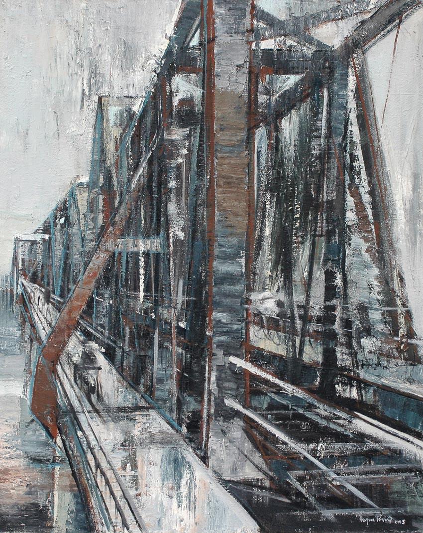 triển lãm tranh vẽ cầu Long Biên 1