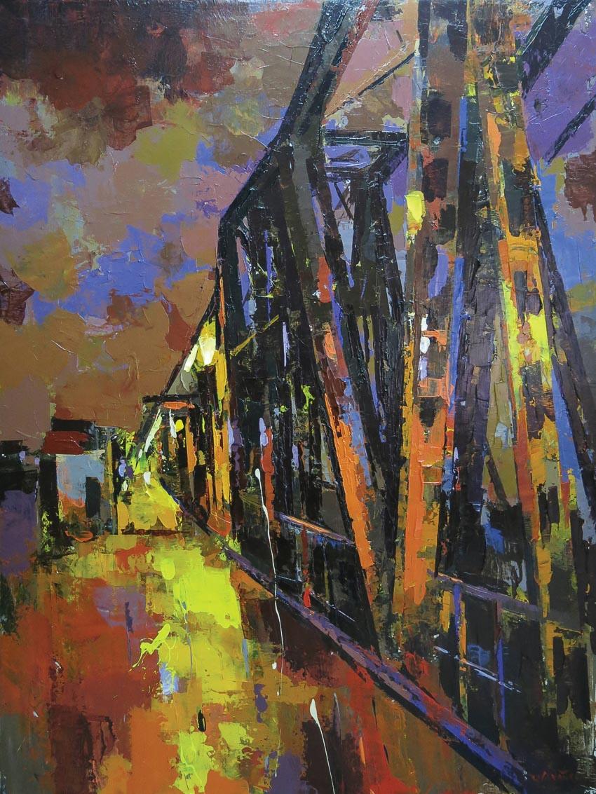triển lãm tranh vẽ cầu Long Biên 2
