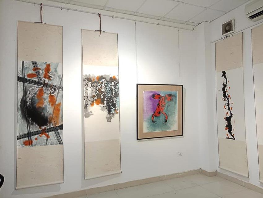 triển lãm tranh vẽ cầu Long Biên 3