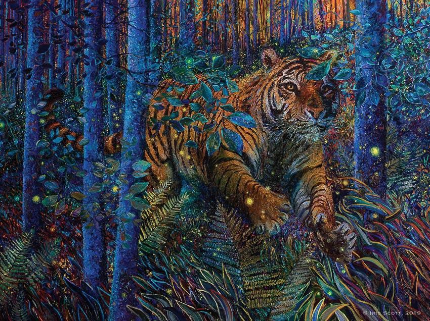Thế giới hoang dã trong tranh Iris Scott