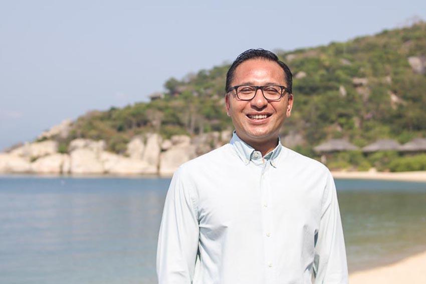 Ông Ateeb Shrestha - Tổng giám đốc Six Senses Ninh Vân Bay 1
