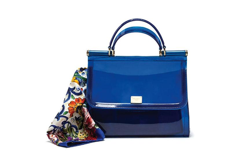 Túi xách Dolce & Gabbana màu xanh ấn tượng