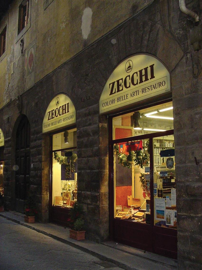 Cửa hàng vật phẩm mỹ thuật Zecchi còn là một nhà hàng ở Florence