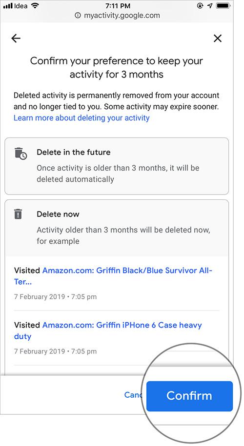 Cách tự động xóa lịch sử vị trí, dữ liệu ứng dụng và web của Google - 7