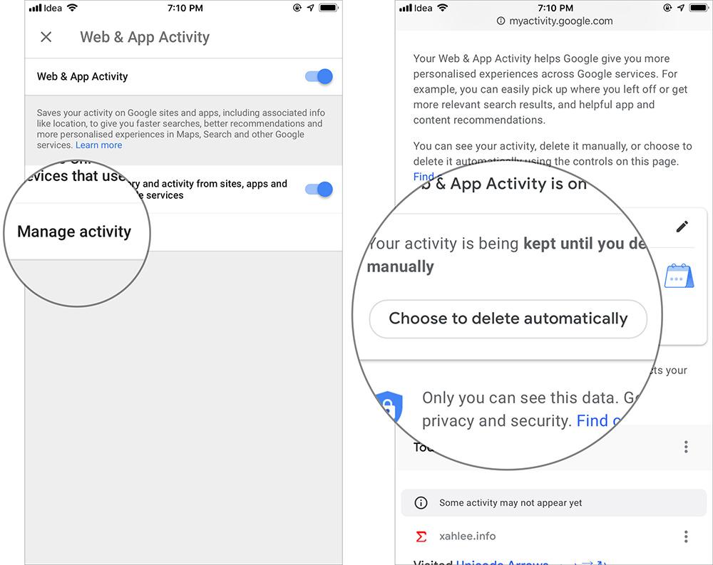 Cách tự động xóa lịch sử vị trí, dữ liệu ứng dụng và web của Google - 5