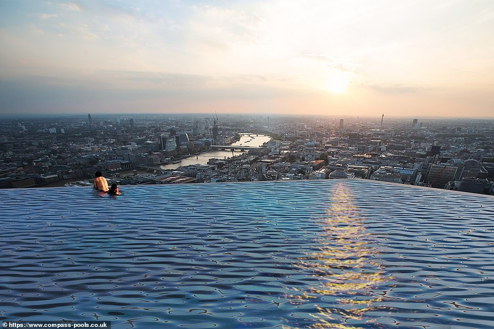 Infinity London giới thiệubể bơi vô cực 360 độ đầu tiên trên thế giới - 1