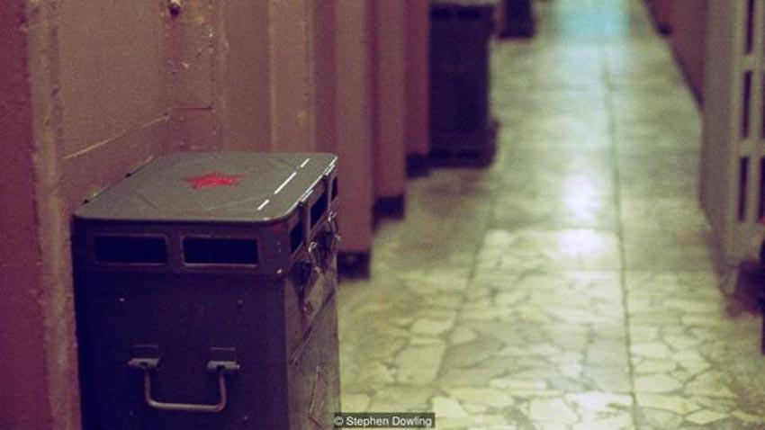 Những hành lang trong bunker được bố trí máy lọc khí đặc biệt