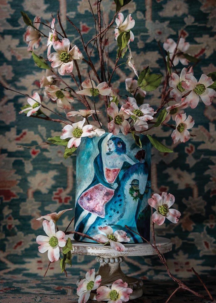 Trang trí những ổ bánh ngọt bằng những bông hoa - 3