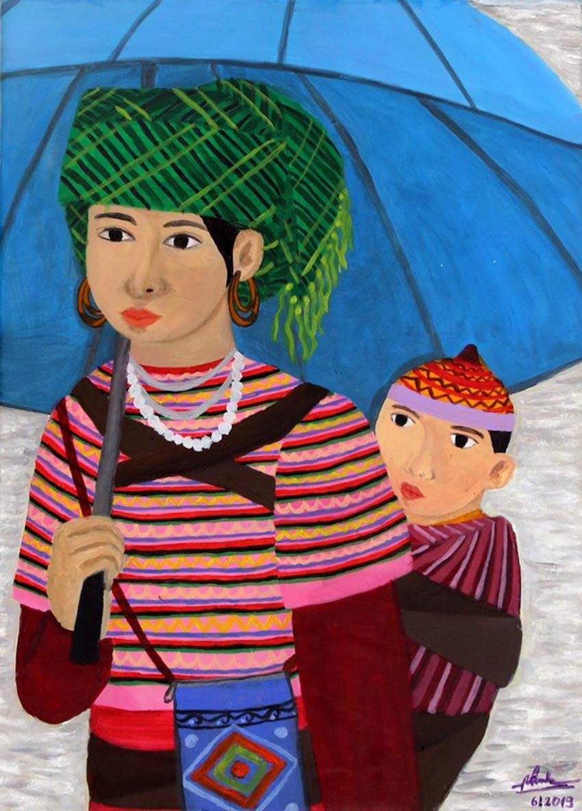 Tác phẩm của họa sỹ khiếm thính Việt Nam được trưng bày tại Italy -1