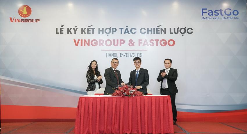 Vingroup hợp tác FastGo tham gia thị trường xe taxi công nghệ