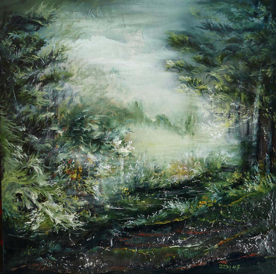 Họa sĩ Trần Thùy Linh: Theo đuổi hội họa rất cần vốn sống và sự chiêm nghiệm -7