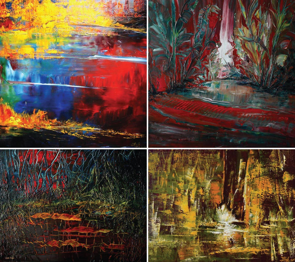 Họa sĩ Trần Thùy Linh: Theo đuổi hội họa rất cần vốn sống và sự chiêm nghiệm -13