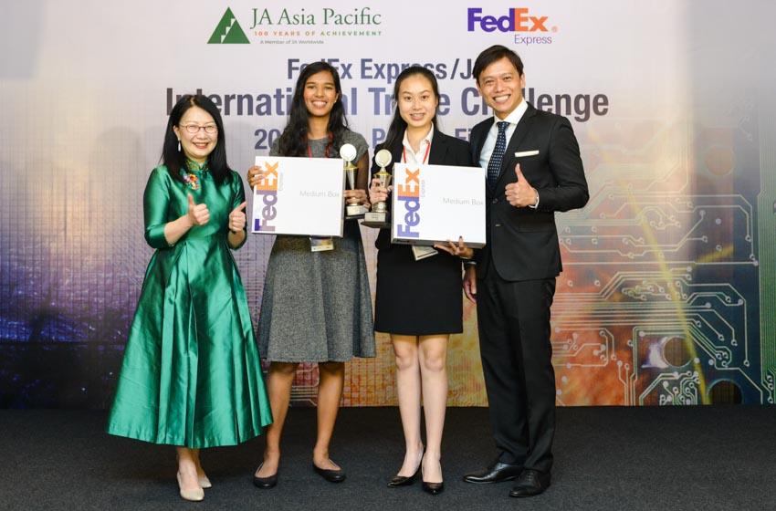 Kết quả chung kết cuộc thi Thách thức Thương mại Quốc tế của FedEx/JA năm 2019 -1