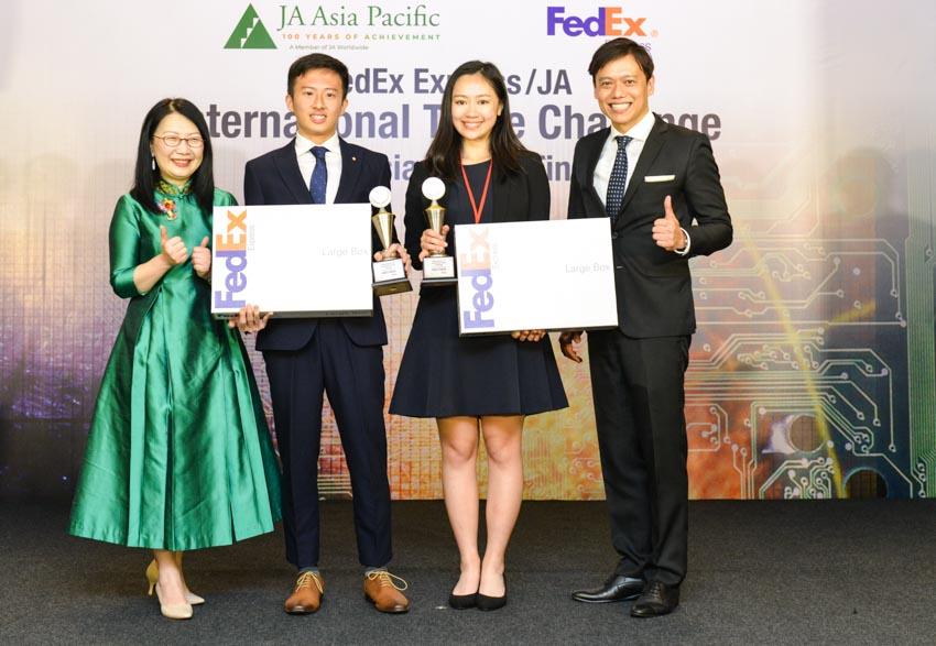 Kết quả chung kết cuộc thi Thách thức Thương mại Quốc tế của FedEx/JA năm 2019 -3