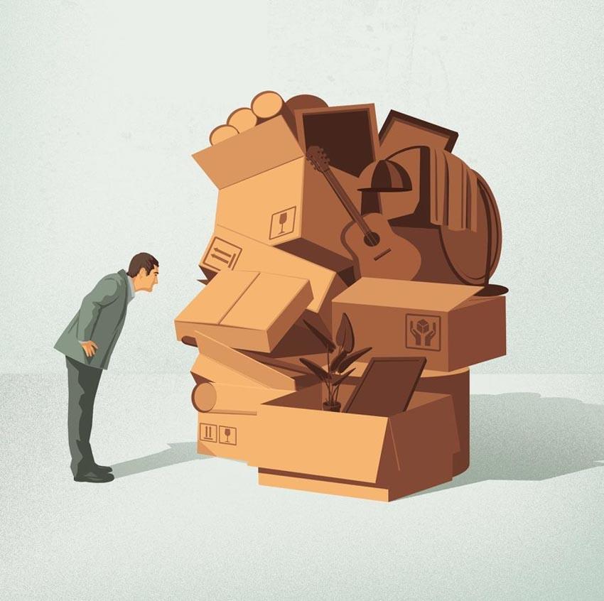 Những minh họa cuộc sống hiện đại khiến tim bạn thổn thức - 3