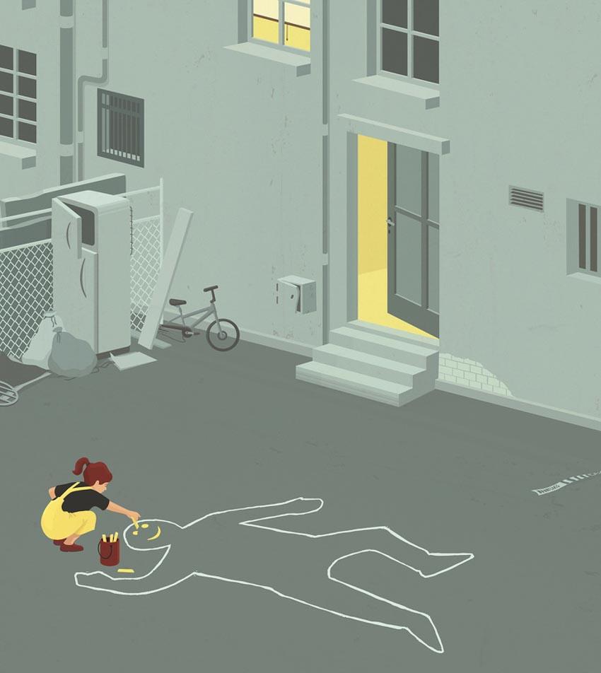 Những minh họa cuộc sống hiện đại khiến tim bạn thổn thức - 6
