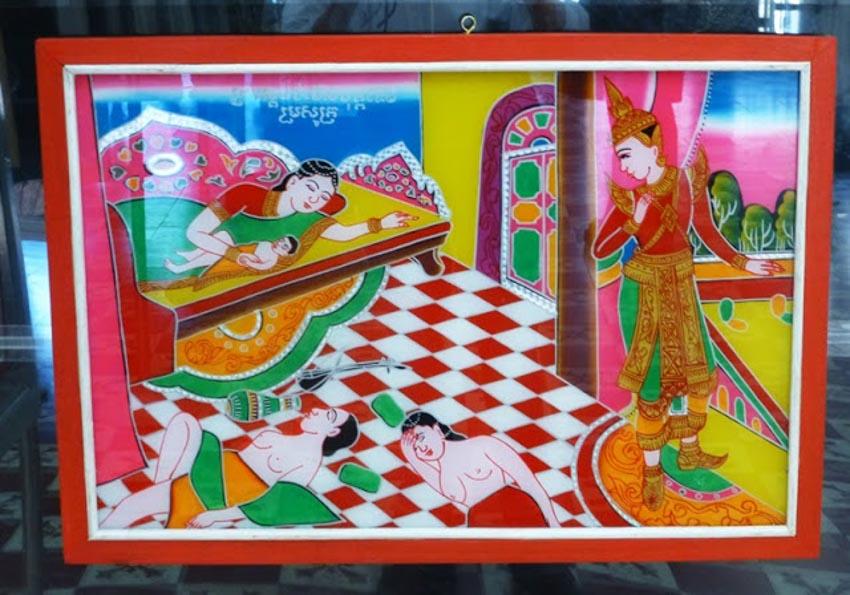 Nghệ nhân vẽ tranh kiếng Thạch Thị Phiên - 14