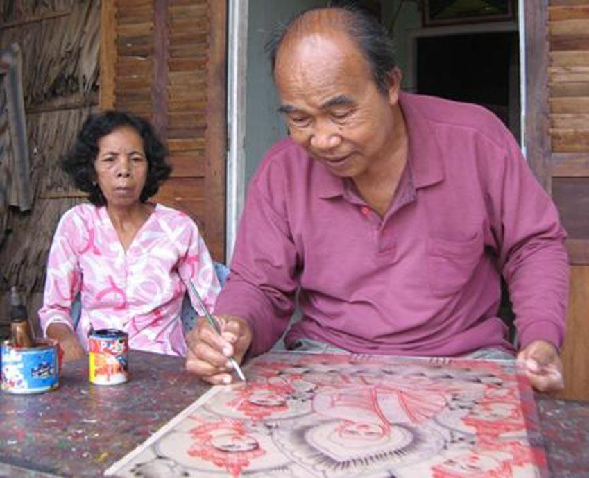 Nghệ nhân vẽ tranh kiếng Thạch Thị Phiên - 15