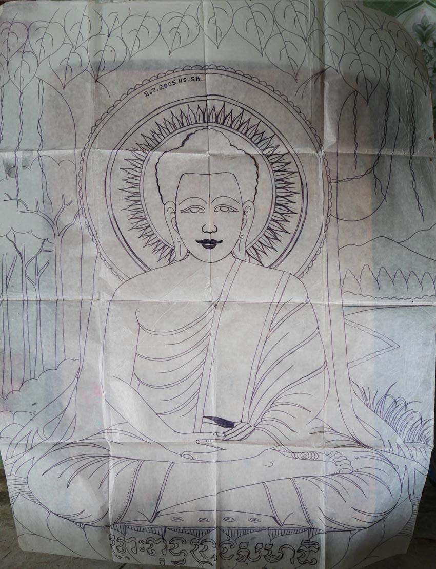 Nghệ nhân vẽ tranh kiếng Thạch Thị Phiên - 4