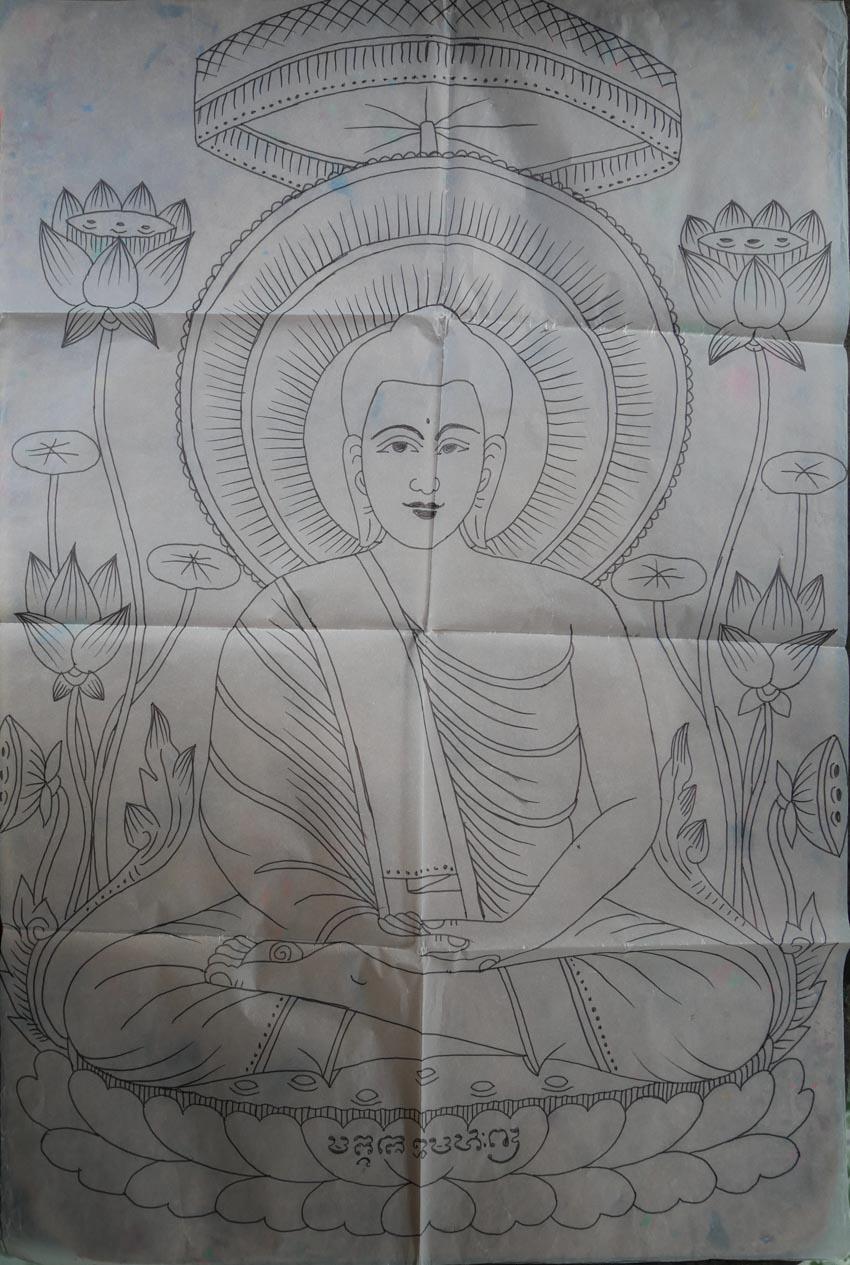 Nghệ nhân vẽ tranh kiếng Thạch Thị Phiên - 5