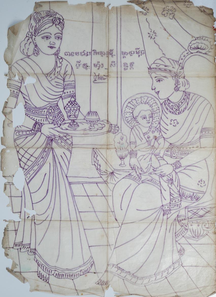 Nghệ nhân vẽ tranh kiếng Thạch Thị Phiên - 6