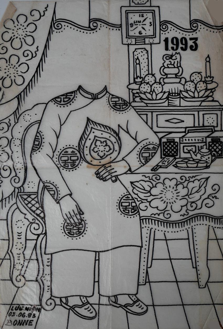 Nghệ nhân vẽ tranh kiếng Thạch Thị Phiên - 7