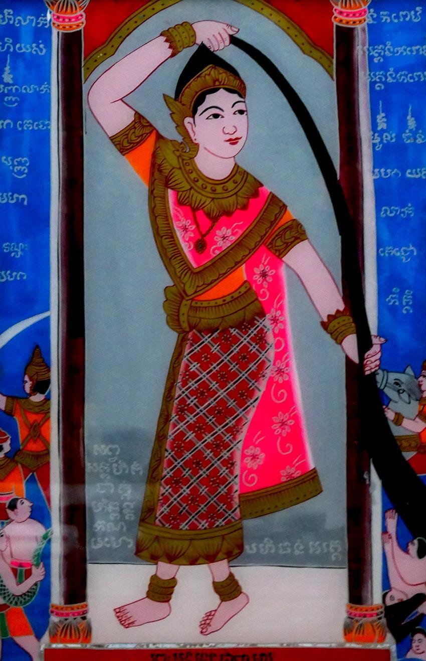 Nghệ nhân vẽ tranh kiếng Thạch Thị Phiên - 8