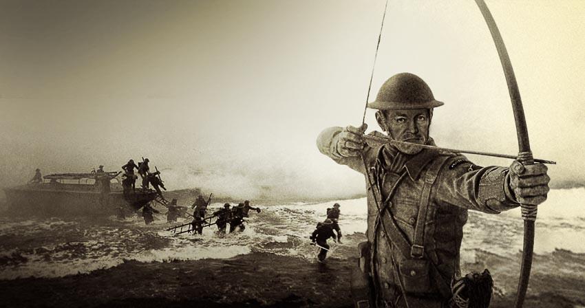Sĩ quan chỉ chiến đấu với thanh kiếm và cung tên - 4