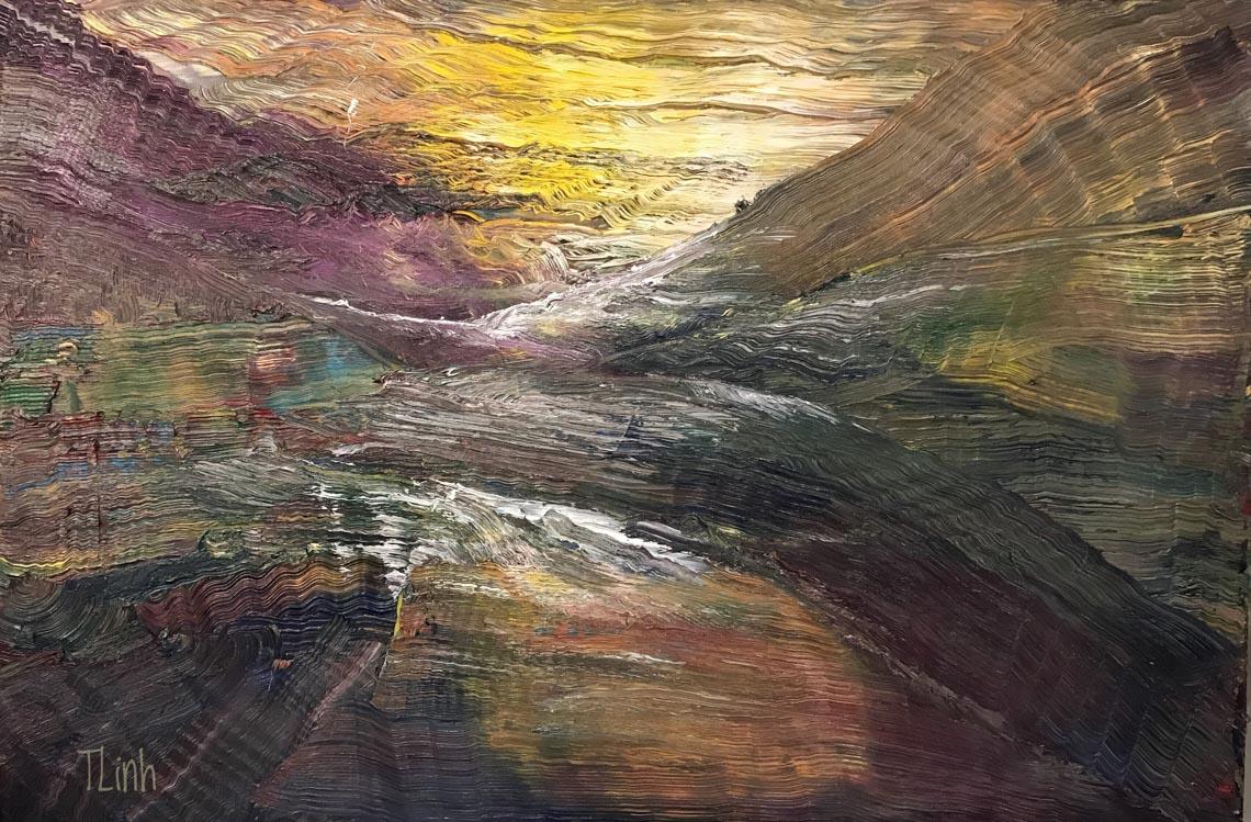Họa sĩ Trần Thùy Linh: Theo đuổi hội họa rất cần vốn sống và sự chiêm nghiệm -47