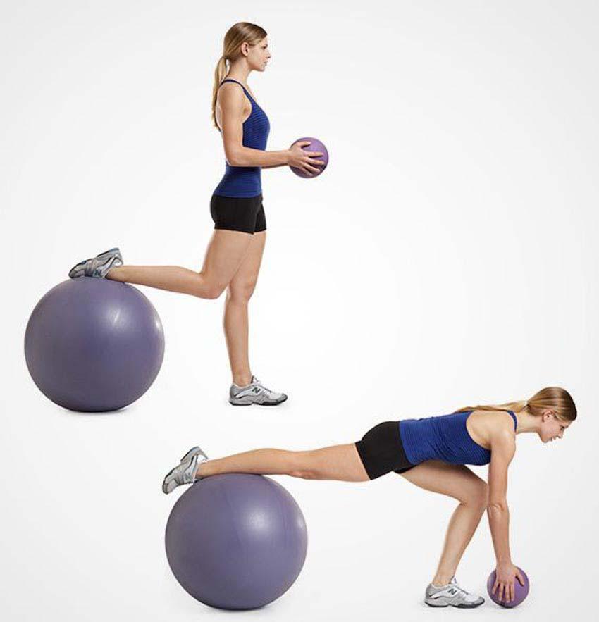4 động tác tập với bóng Swiss giúp giữ thăng bằng và cơ bụng - 4