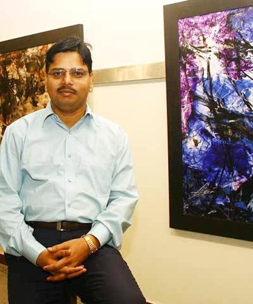 Họa sĩ trừu tượng Ajay Chaudhary - Tay súng tay cọ - 2