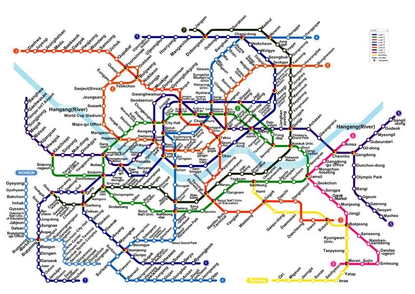 Lưu ý khi sử dụng tàu điện ngầm Hàn Quốc - 1