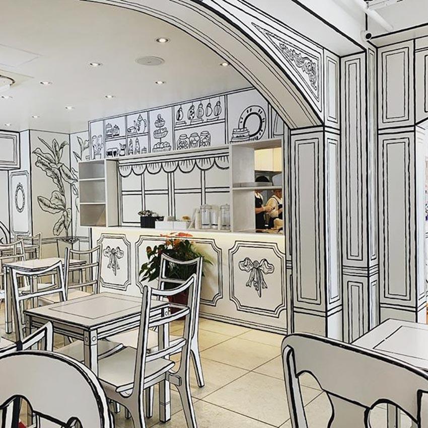 Quán Cafe 2D thiết kế dựa trên ý tưởng của sách tô màu - 11