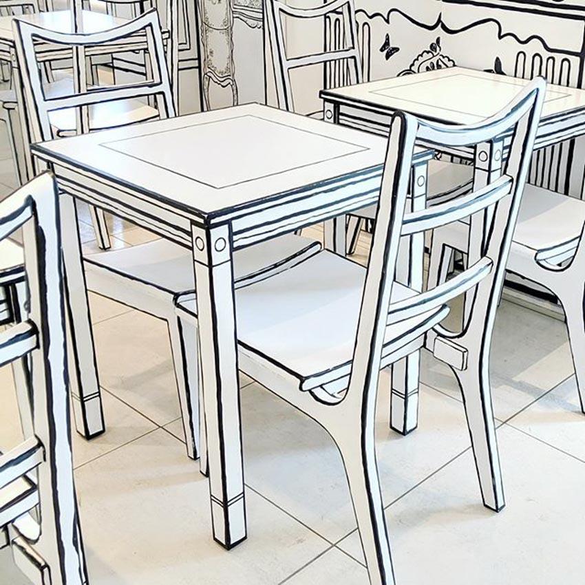 Quán Cafe 2D thiết kế dựa trên ý tưởng của sách tô màu - 18