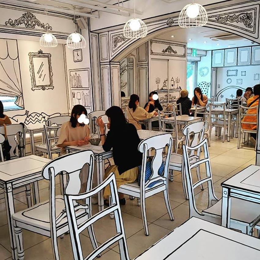 Quán Cafe 2D thiết kế dựa trên ý tưởng của sách tô màu - 19