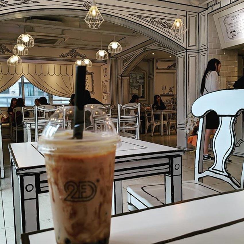 Quán Cafe 2D thiết kế dựa trên ý tưởng của sách tô màu - 20