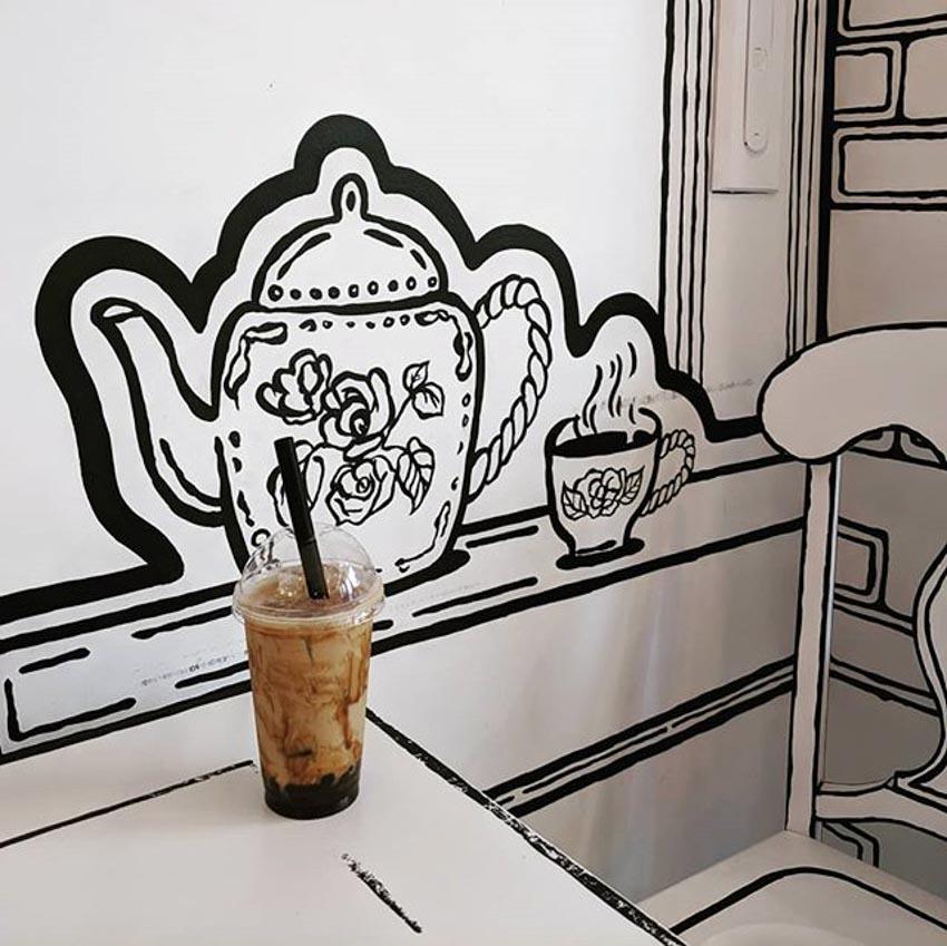 Quán Cafe 2D thiết kế dựa trên ý tưởng của sách tô màu - 21