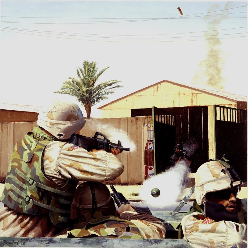 Tranh và ký họa của Steve Mumford về chiến tranh - 3