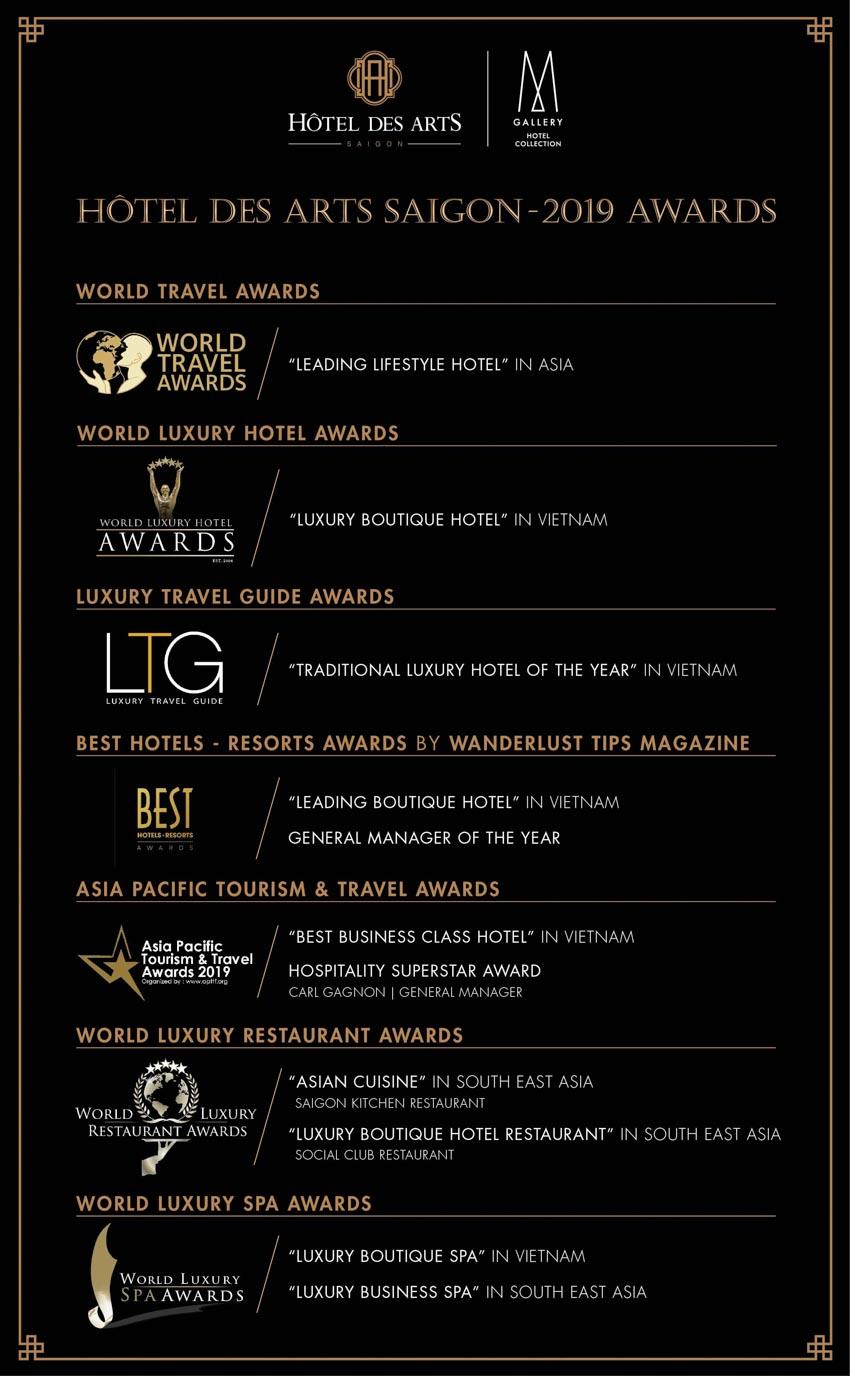 Hôtel des Arts Saigon nhận hai giải thưởng quốc tế -2