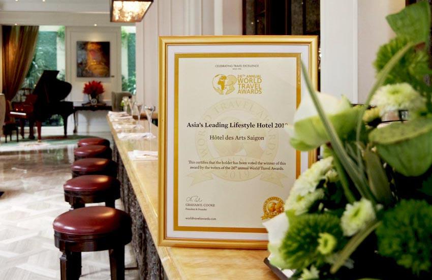 Hôtel des Arts Saigon nhận hai giải thưởng quốc tế -1
