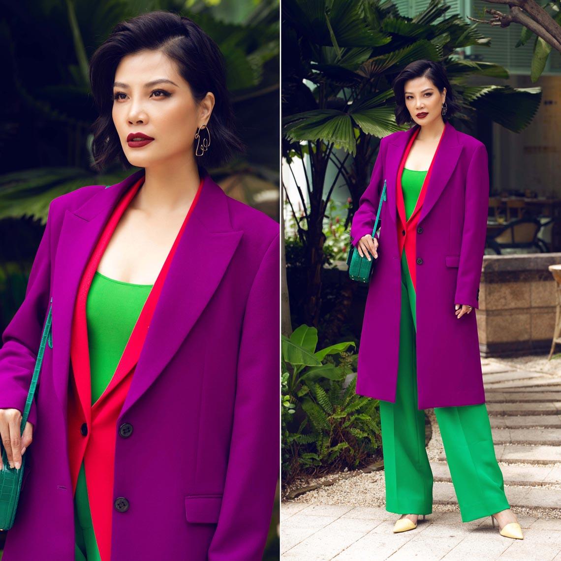 Cách phối trang phục đa sắc của những mỹ nhân V-biz - 14