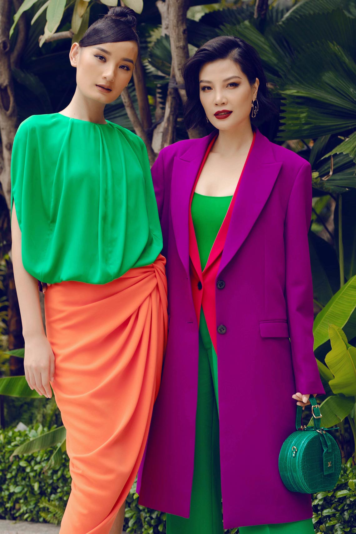 Cách phối trang phục đa sắc của những mỹ nhân V-biz - 4
