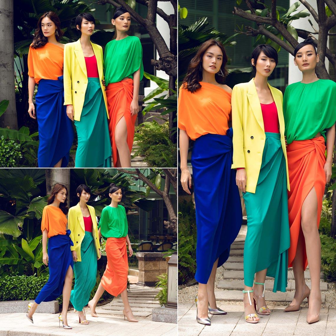 Cách phối trang phục đa sắc của những mỹ nhân V-biz - 6