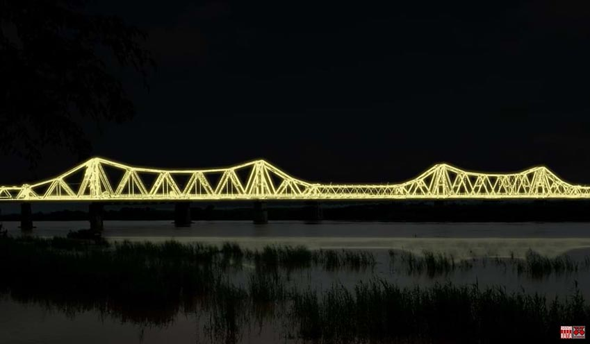 Cây cầu hơn 100 năm tuổi được 'xây' lại bằng... ánh sáng -1