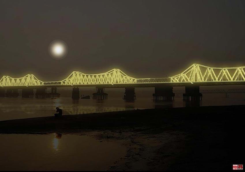 Cây cầu hơn 100 năm tuổi được 'xây' lại bằng... ánh sáng -2