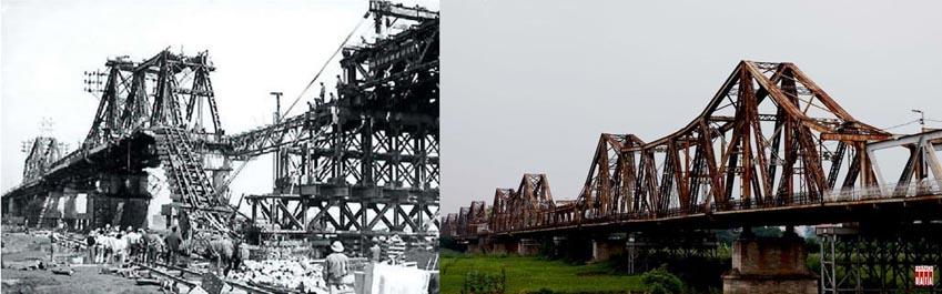 Cây cầu hơn 100 năm tuổi được 'xây' lại bằng... ánh sáng -7