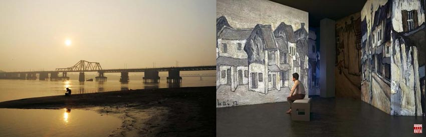 Cây cầu hơn 100 năm tuổi được 'xây' lại bằng... ánh sáng -9