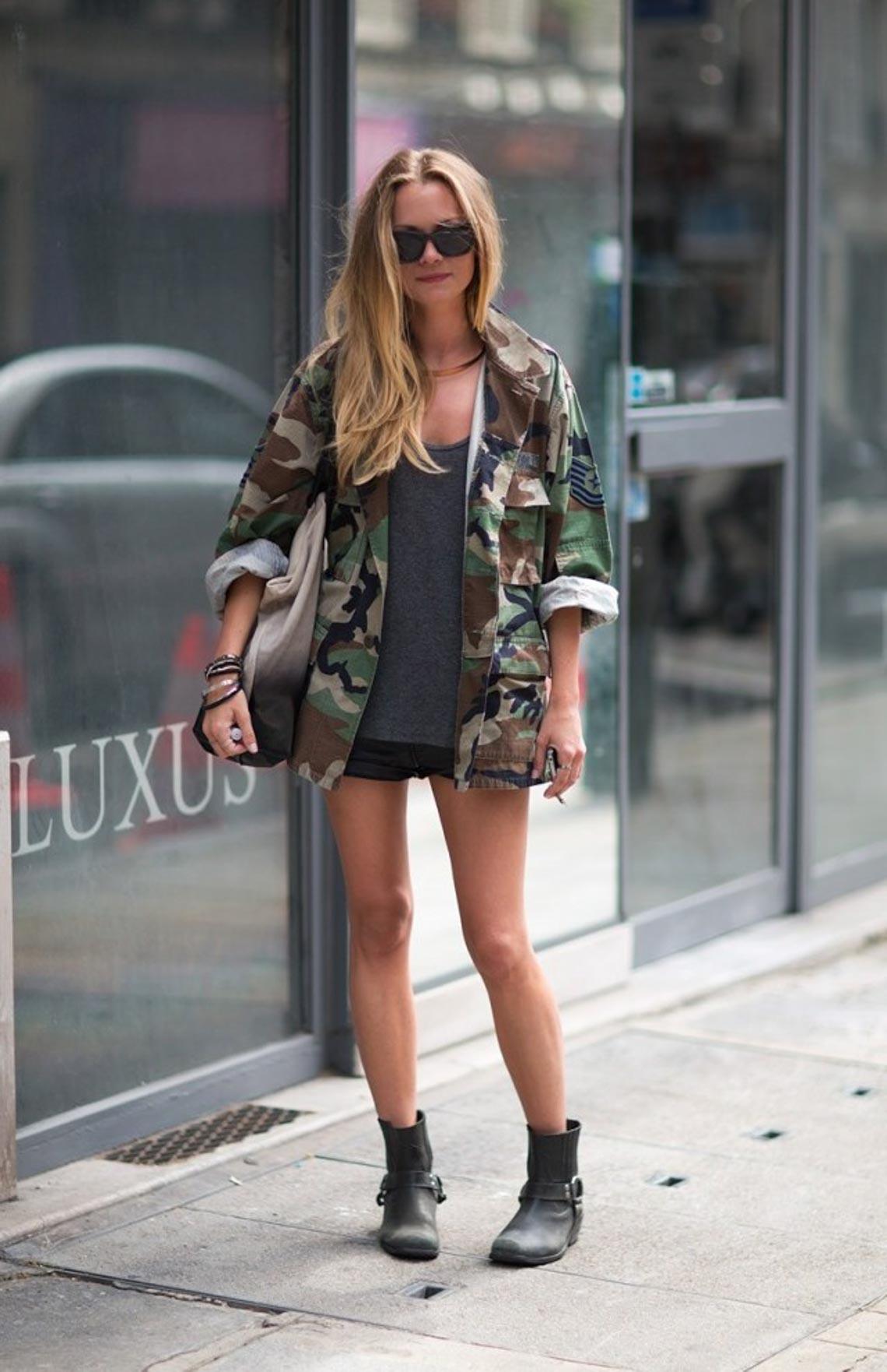 Mix & match phong cách thời trang quân đội cho quý cô - 3