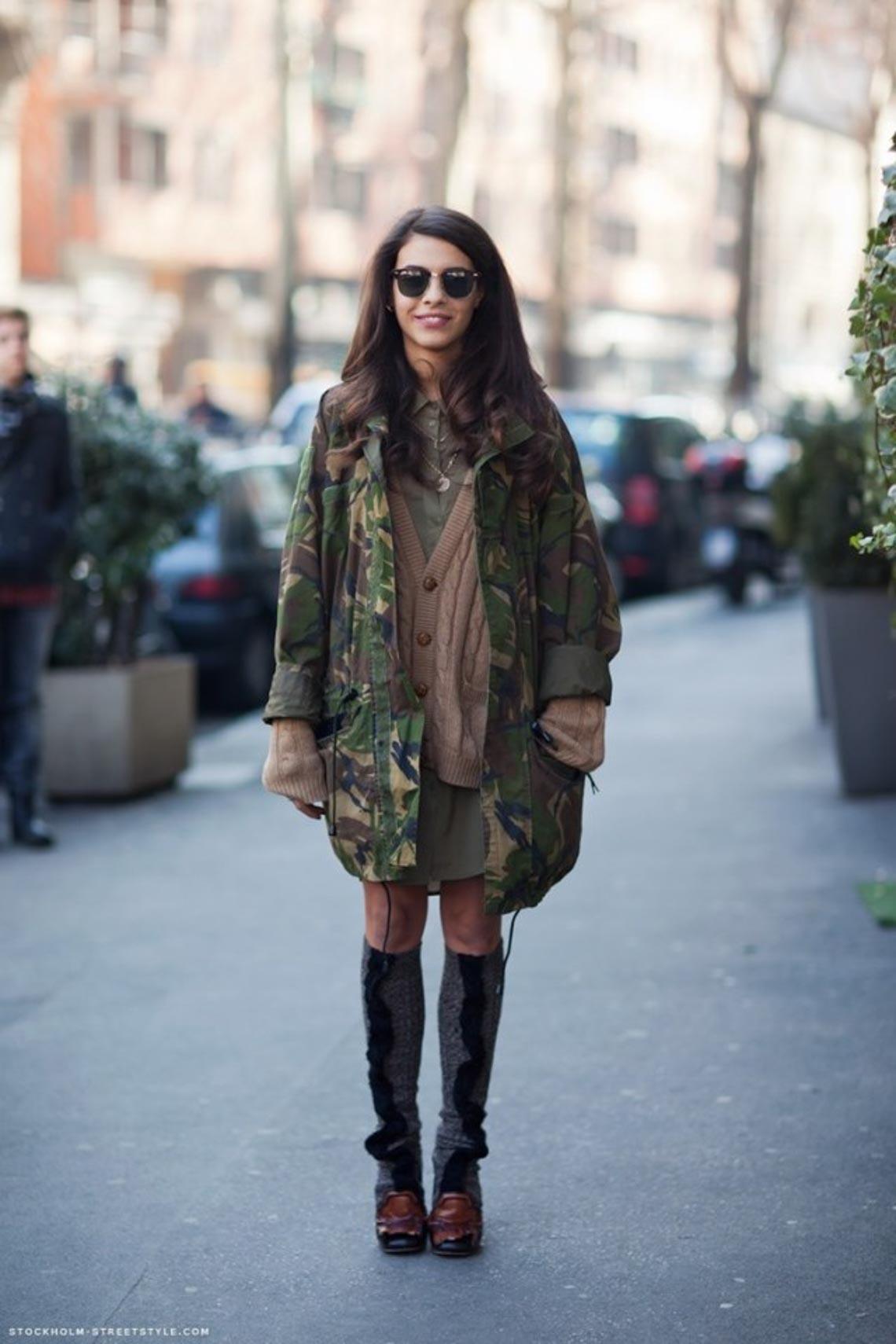 Mix & match phong cách thời trang quân đội cho quý cô - 4