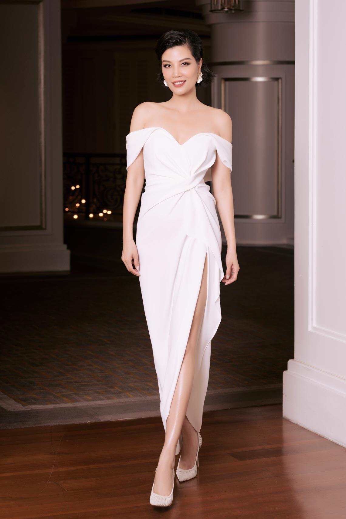 Dàn mỹ nhân diện trang phục trắng tinh khôi của NTK Đỗ Mạnh Cường - 7